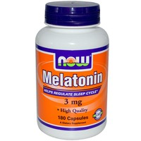 NOW Melatonin 3мг 180 кап