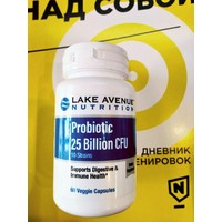 LAKE AVENUE NUTRITION Probiotic 24 Billion CFU 60 кап